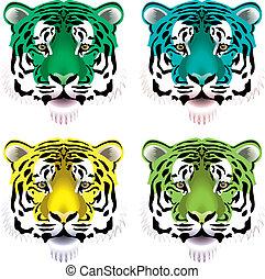 tiger heads