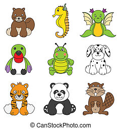 Vector set of different cute animal