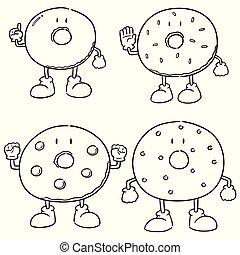 vector set of donut
