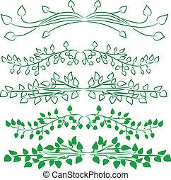 set of green design elements