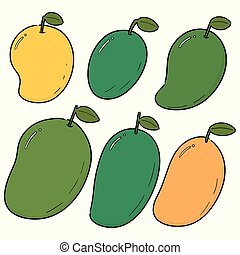 vector set of mango