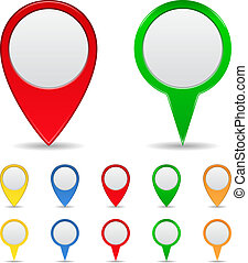 Vector Set of Map Markers