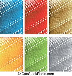 Vector set of scratch textures