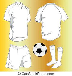 vector set of sport uniforms