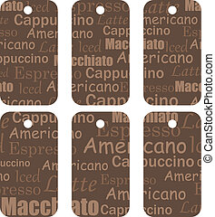 tags with coffee