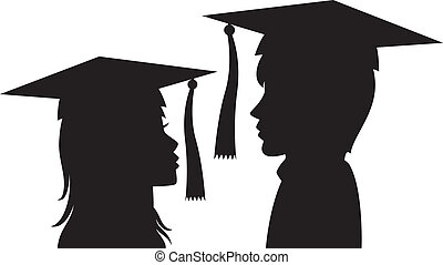 graduates young man and woman