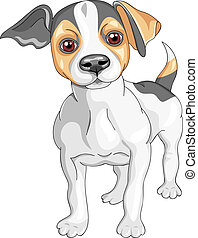 color sketch of the dog Jack Russell Terrier breed