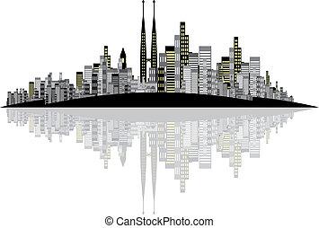 Vector Skyline Background