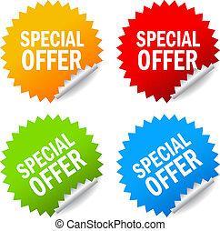 Vector special offer labels set