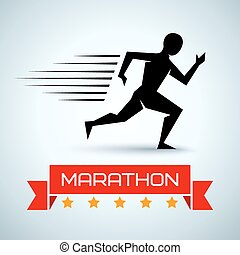 sport logo for a running