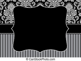 Vector decorative frame. Easy to scale and edit. Pattern is included as seamless swatch