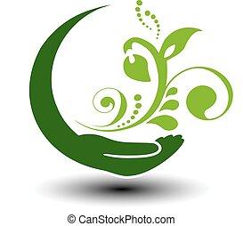 Vector symbol of green energy