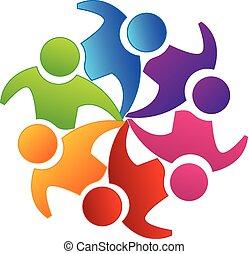 Vector teamwork unity logo