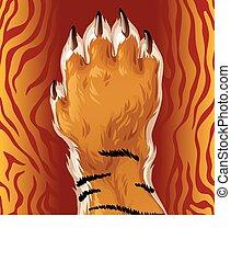 Vector tiger paw