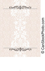 Vector Victorian Column Background. Easy to edit. Perfect for invitations or announcements.