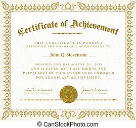 Vector Vintage Certificate of Achievement