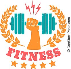 vintage logo for fitness club