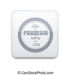 Vector white premium quality icon. Eps10. Easy to edit