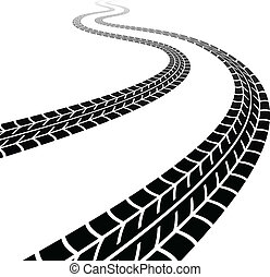 vector winding trace of the tyres