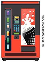 Vending machine with soft drinks illustration