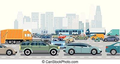 Verkehrs-Stau