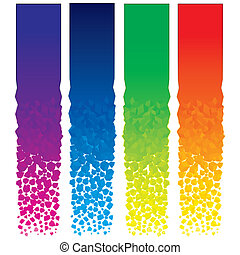 Set of colorful vector vertical banners