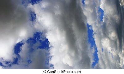 timelapse moving clouds in the sky on a summer day