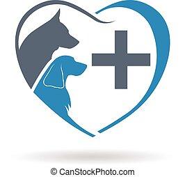 Veterinary care logo. Vector graphic design