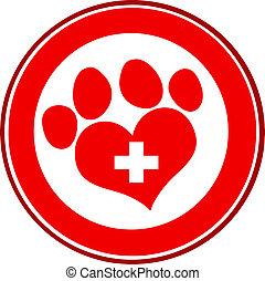 Veterinary Love Paw Print