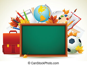 Vetor illustration - Back to school background