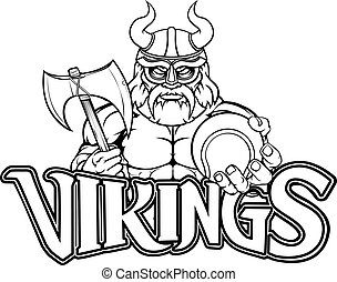 Viking Tennis Sports Mascot
