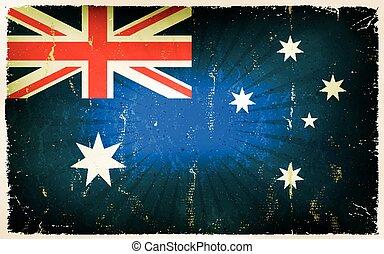 Vintage Australia Flag Poster Background