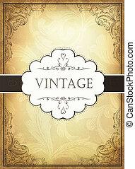 Vintage background with ornamental frame. Vector illustration, EPS10