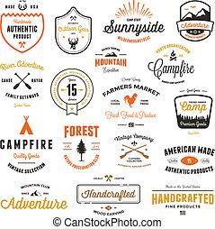 Vintage badges & labels
