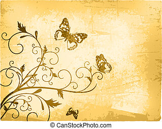 Vintage Butterfly Background