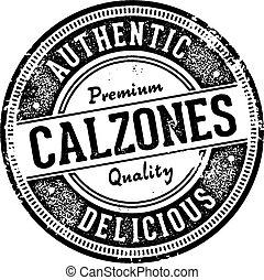 Vintage Calzones Italian Restaurant Sign