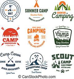 Vintage camp graphics
