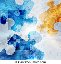 vintage corporate background. abstract puzzle shape colorful vector design