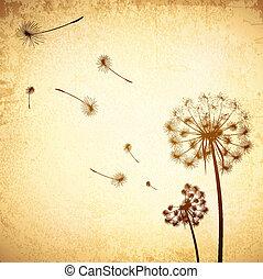 Vintage Dandelion Background
