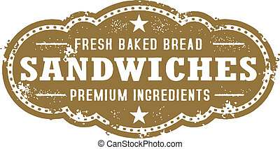 Vintage Deli Sandwich Sign