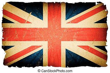 Vintage English Flag Poster Background
