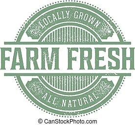 Vintage Farm Fresh Product Label