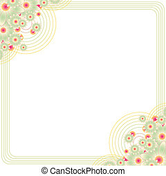 vintage floral frame with copy space