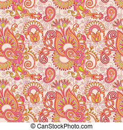 vintage floral seamless paisley pattern