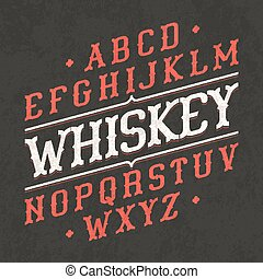 Whiskey style vintage font. Ideal for any design in vintage style.