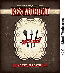 Vintage Food menu poster design