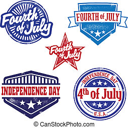 Vintage Fourth of July Stamps