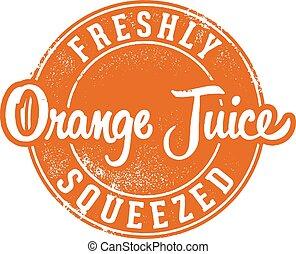 Vintage Fresh Squeezed Orange Juice
