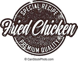 Vintage Fried Chicken Menu Stamp
