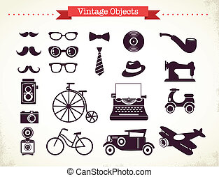 vintage and hipster objects collection